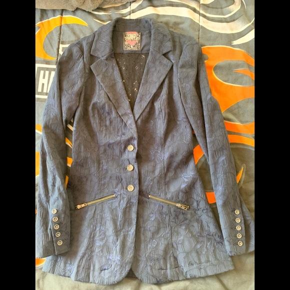 Free People Jackets & Blazers - Free People Victorian Lace Jacquard Jacket Blazer
